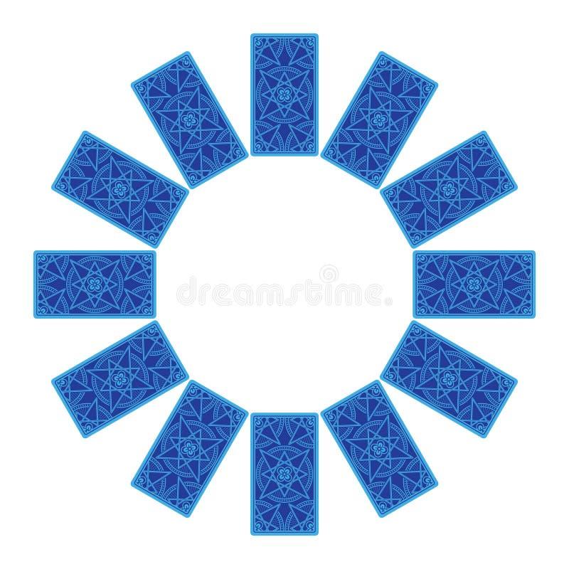 κάρτες tarot Πίσω πλευρά Zodiac κύκλος sread ελεύθερη απεικόνιση δικαιώματος