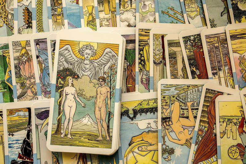 κάρτες tarot στοκ φωτογραφίες