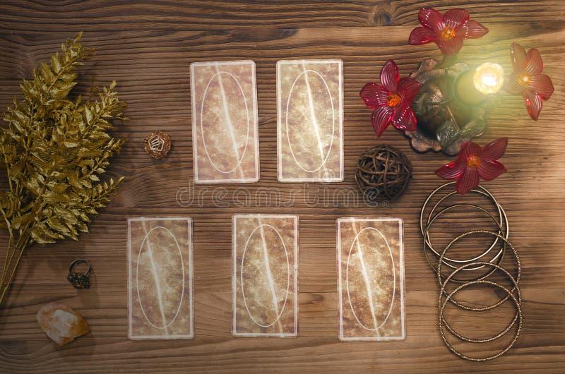 κάρτες tarot στοκ εικόνα