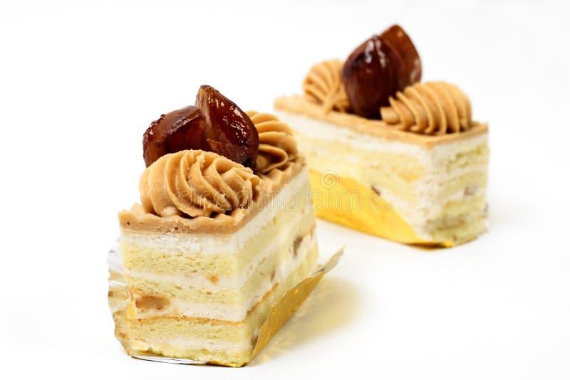 κάστανο δύο κέικ στοκ εικόνα με δικαίωμα ελεύθερης χρήσης