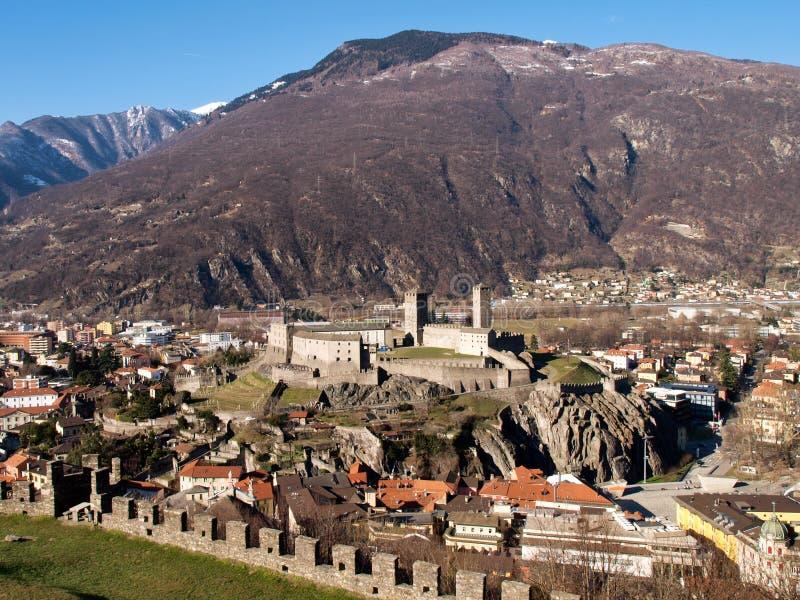 Κάστρα της Ελβετίας, Μπελιντζόνα στοκ φωτογραφίες με δικαίωμα ελεύθερης χρήσης