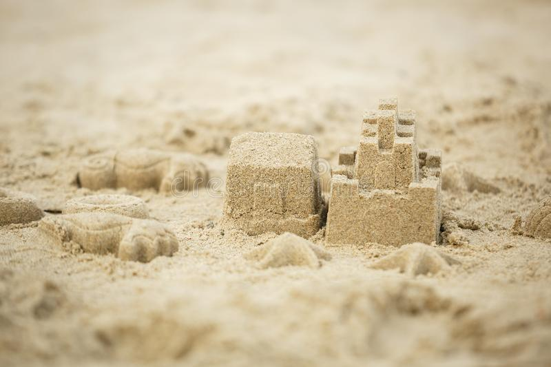 Κάστρο άμμου στην παραλία στοκ εικόνες με δικαίωμα ελεύθερης χρήσης