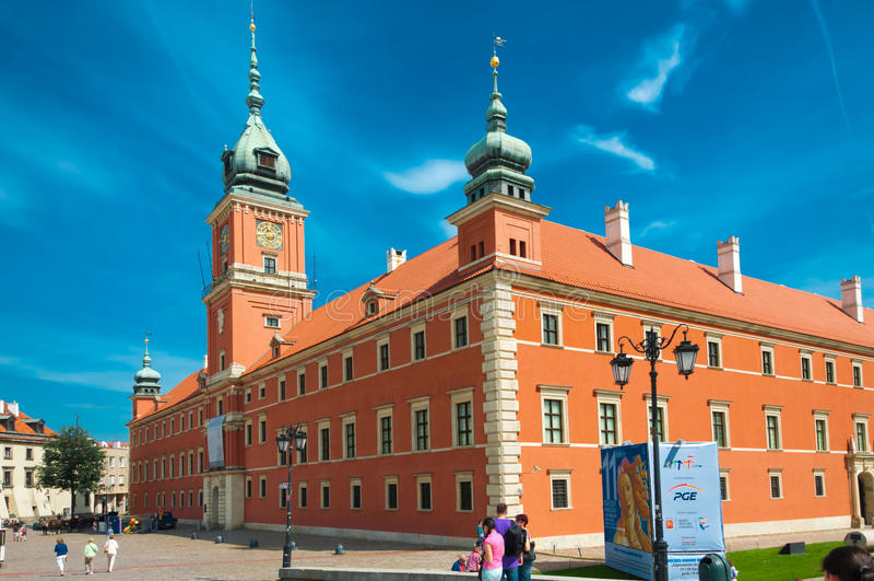 κάστρο βασιλική Βαρσοβία στοκ εικόνα με δικαίωμα ελεύθερης χρήσης