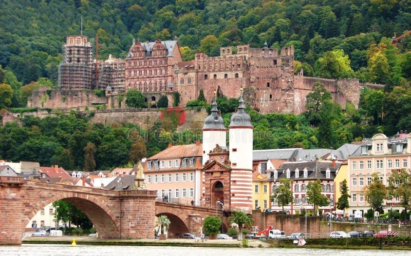 κάστρο Γερμανία Χαϋδελβέργη γεφυρών παλαιά στοκ εικόνα με δικαίωμα ελεύθερης χρήσης