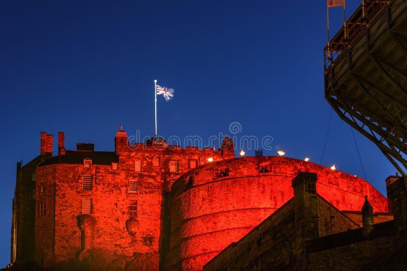 κάστρο Εδιμβούργο Σκωτί&alp στοκ φωτογραφία με δικαίωμα ελεύθερης χρήσης