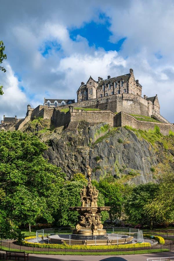 κάστρο Εδιμβούργο Σκωτί&alp στοκ φωτογραφία