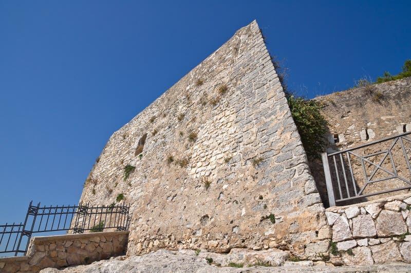 κάστρο Ιταλία Πούλια vieste στοκ φωτογραφία