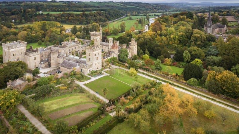 Κάστρο και κήποι Lismore Κομητεία Waterford Ιρλανδία στοκ εικόνα