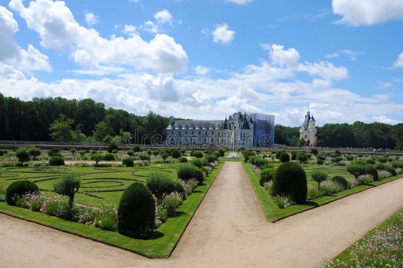 Κάστρο και κήπος Chenonceau στη Γαλλία στοκ εικόνες