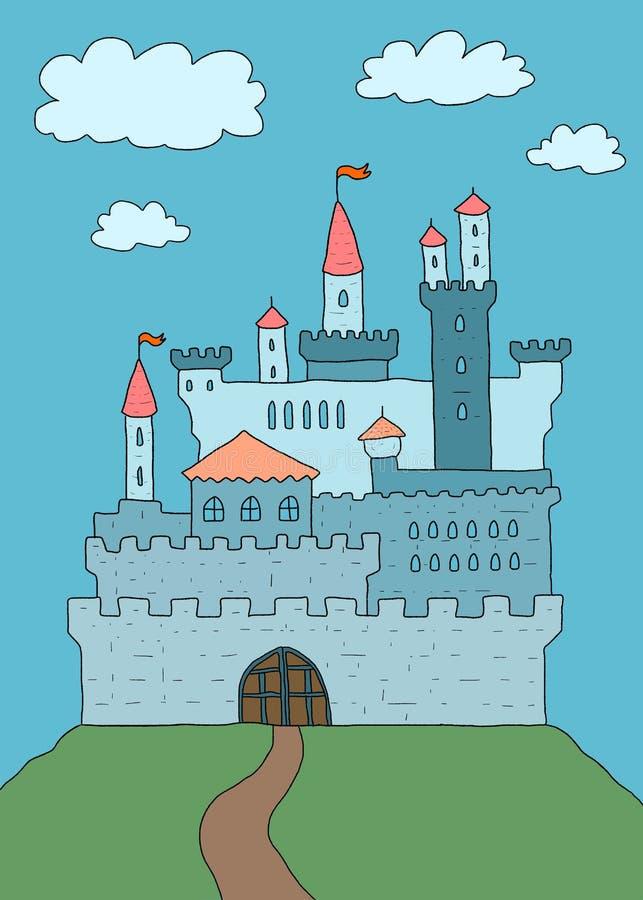 Κάστρο κινούμενων σχεδίων απεικόνιση αποθεμάτων