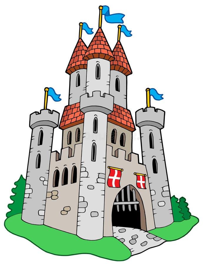 κάστρο μεσαιωνικό διανυσματική απεικόνιση