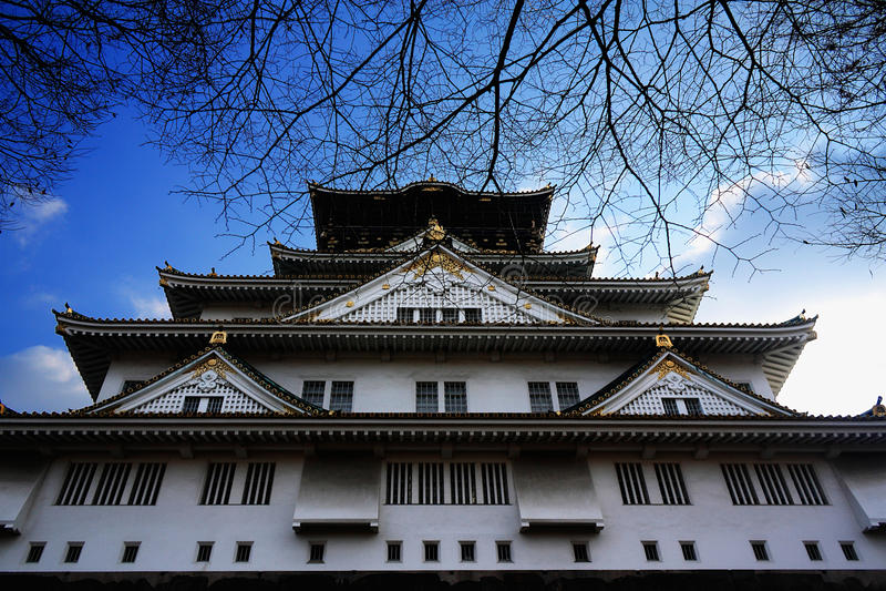 κάστρο Οζάκα στοκ εικόνες