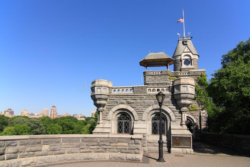 κάστρο πανοραμικών πυργίσ&ka στοκ εικόνες