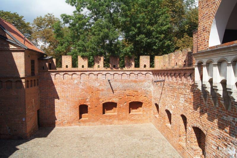 Κάστρο Πολωνία Oporow στοκ εικόνες