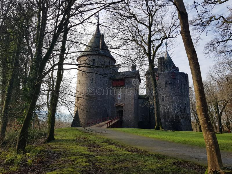 Κάστρο της Ουαλίας το χειμώνα στοκ εικόνα