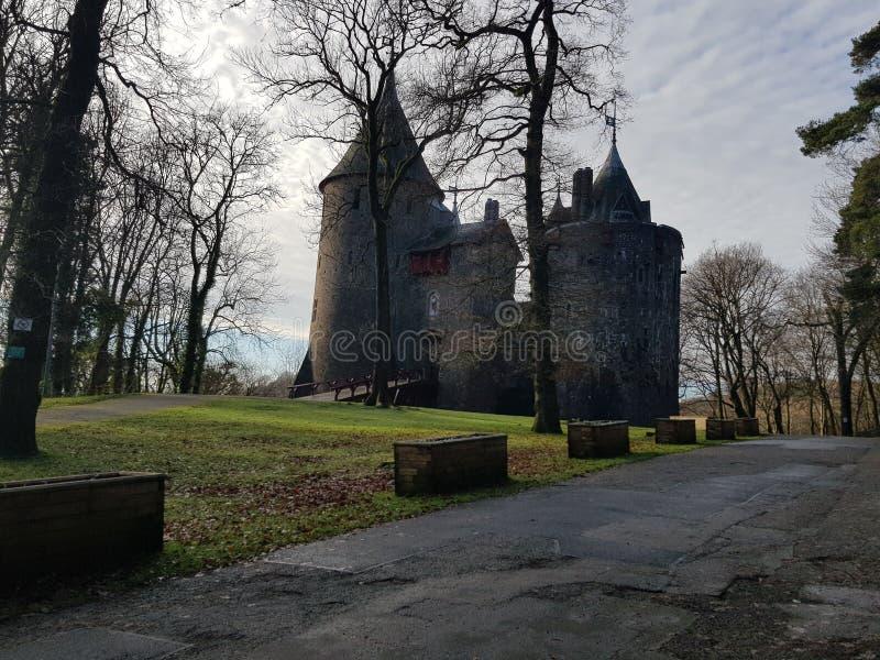 Κάστρο της Ουαλίας το χειμώνα στοκ φωτογραφίες με δικαίωμα ελεύθερης χρήσης
