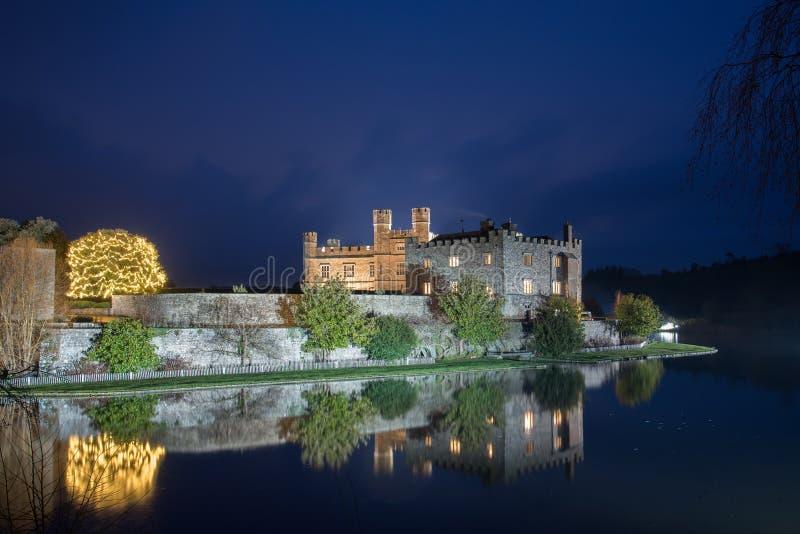 Κάστρο του Λιντς τη νύχτα στοκ φωτογραφία με δικαίωμα ελεύθερης χρήσης