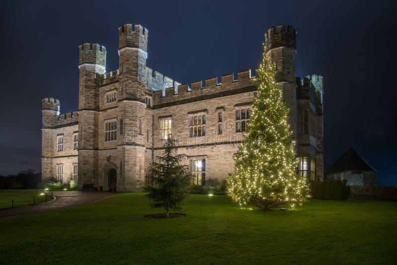Κάστρο του Λιντς τη νύχτα στοκ εικόνες με δικαίωμα ελεύθερης χρήσης