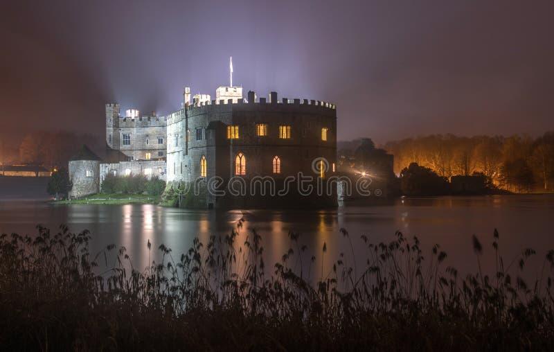 Κάστρο του Λιντς τη νύχτα στοκ εικόνα με δικαίωμα ελεύθερης χρήσης
