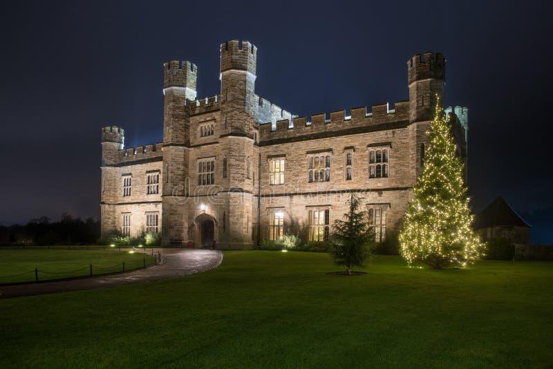 Κάστρο του Λιντς τη νύχτα στοκ φωτογραφίες με δικαίωμα ελεύθερης χρήσης