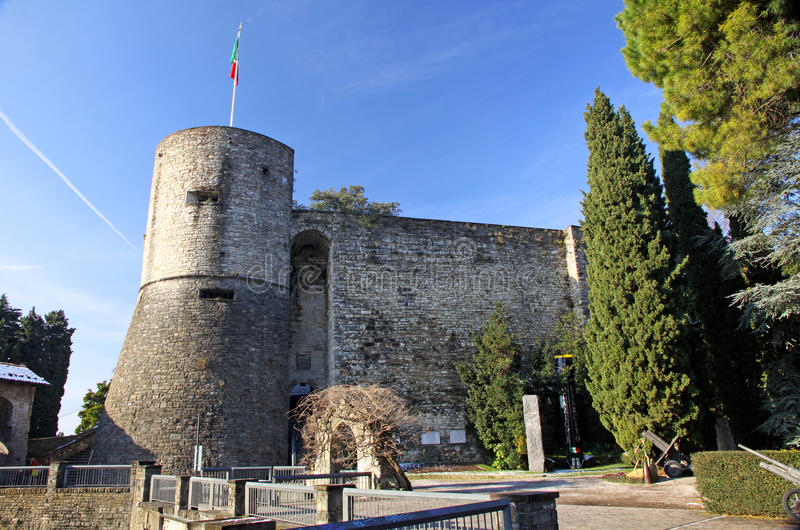 κάστρο του Μπέργκαμο στοκ εικόνα
