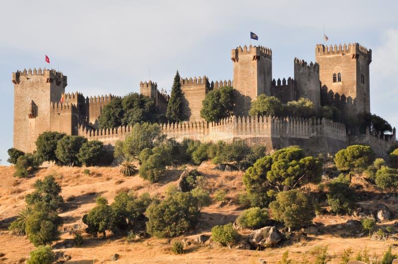 Κάστρο του Ρίο Almodovar del, Ισπανία στοκ εικόνα με δικαίωμα ελεύθερης χρήσης