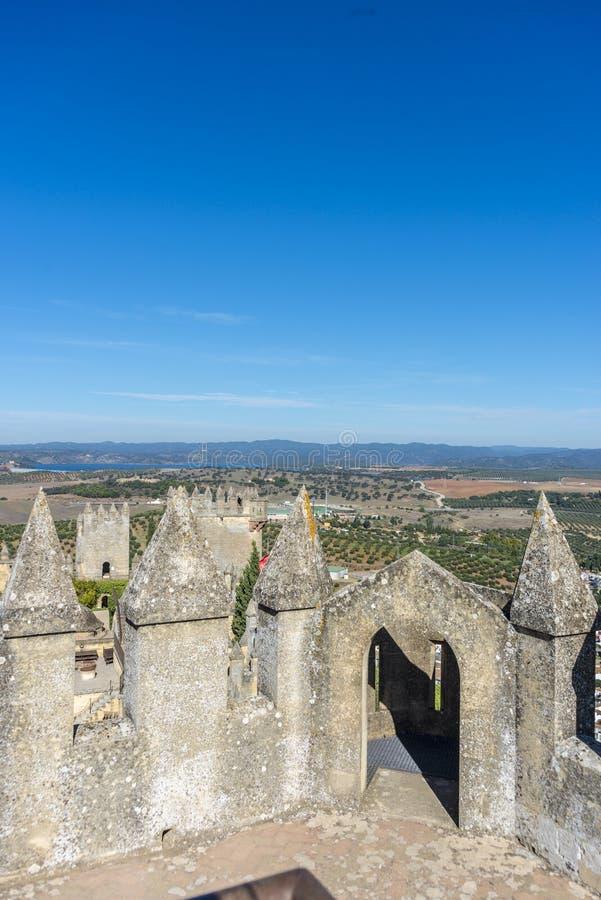 Κάστρο του Ρίο Almodovar del, Ισπανία στοκ φωτογραφία