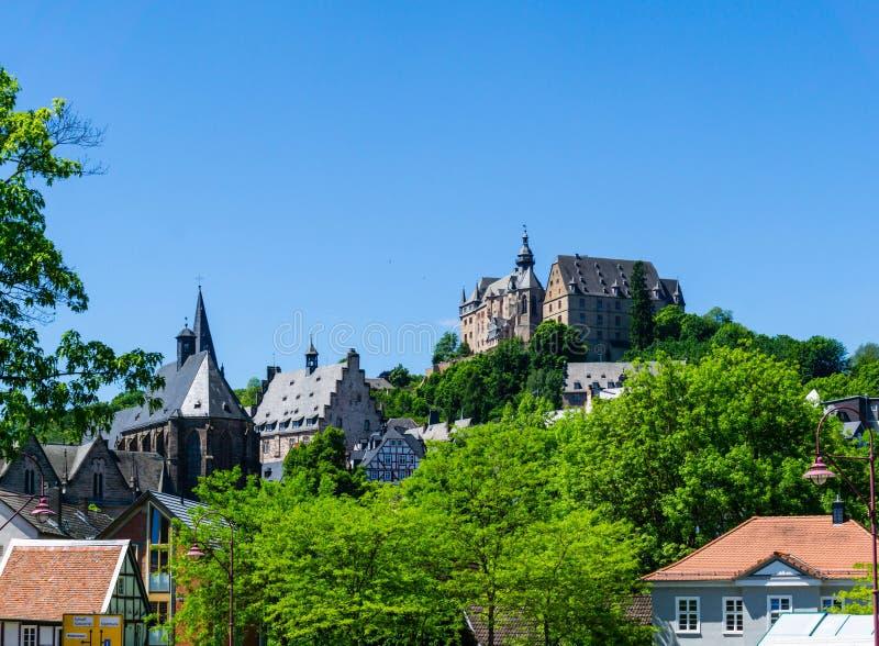 Κάστρο του Landgrave στο Marburg Hesse Γερμανία στοκ εικόνα με δικαίωμα ελεύθερης χρήσης