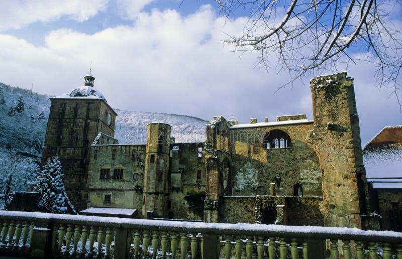 κάστρο Χαϋδελβέργη το κόκκινο s στοκ εικόνα
