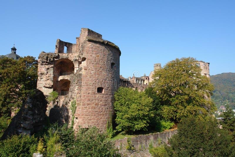 κάστρο Χαϋδελβέργη στοκ εικόνα