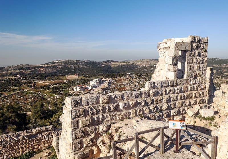 Κάστρο Ajloun στις καταστροφές στοκ φωτογραφία με δικαίωμα ελεύθερης χρήσης