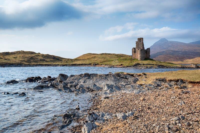 Κάστρο Ardvreck στη Σκωτία στοκ εικόνα με δικαίωμα ελεύθερης χρήσης