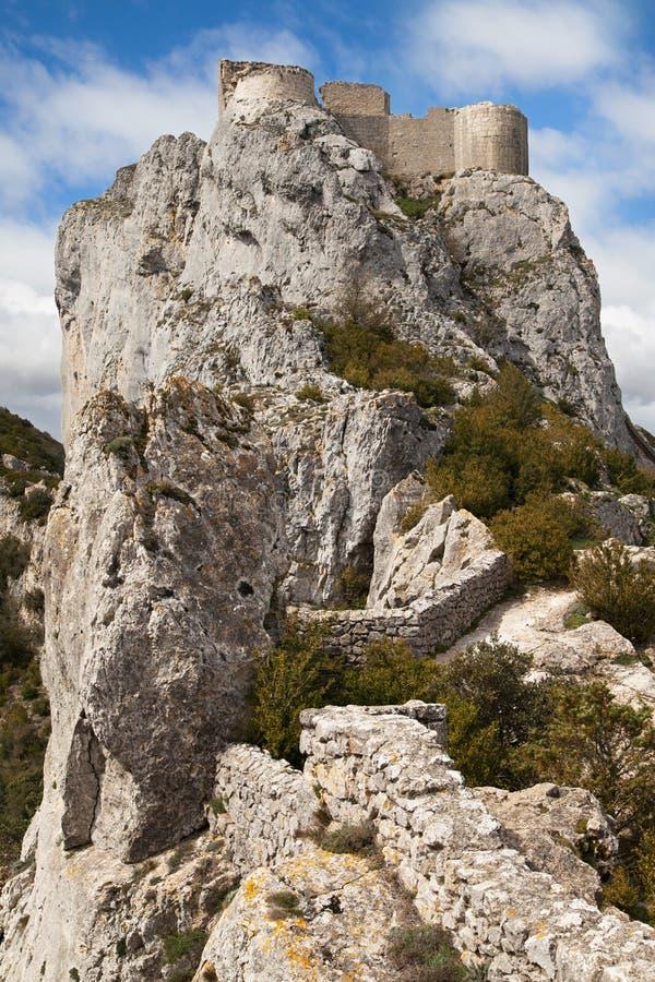 Κάστρο Cathar Peyrepertuse στοκ φωτογραφία με δικαίωμα ελεύθερης χρήσης