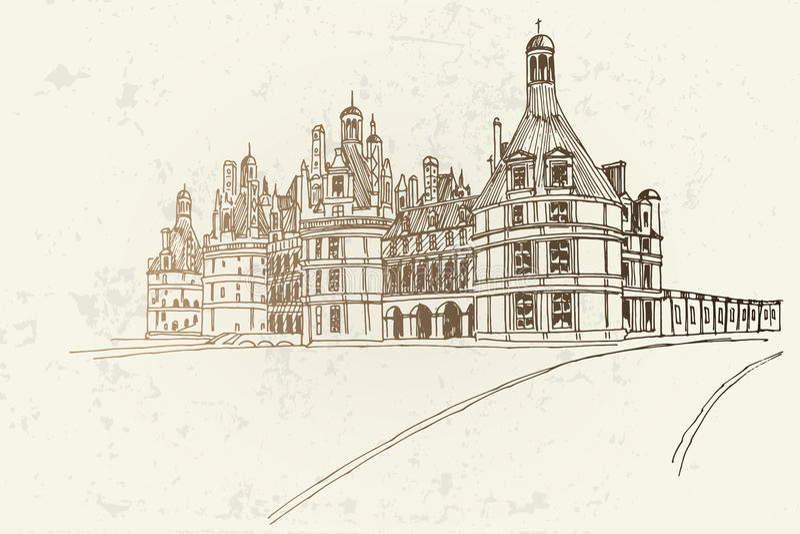 κάστρο chambord Γαλλία στοκ φωτογραφίες