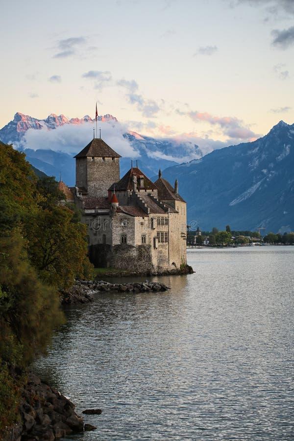 κάστρο chillon στοκ εικόνα