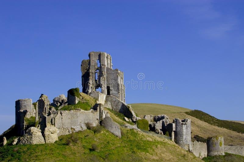 κάστρο corfe στοκ εικόνα
