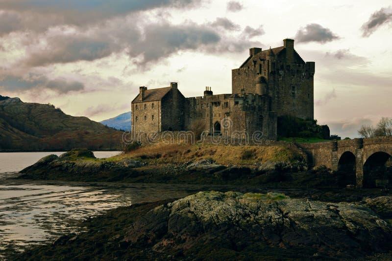 κάστρο donan eilean Σκωτία στοκ εικόνα