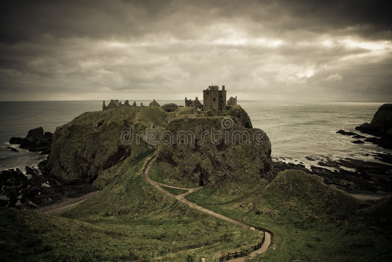 κάστρο dunnottar στοκ φωτογραφία με δικαίωμα ελεύθερης χρήσης