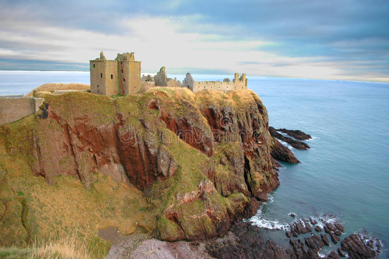 κάστρο dunnottar στοκ εικόνα
