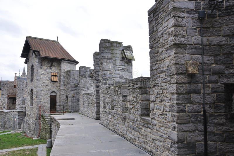 Κάστρο Gravesteen στη Γάνδη, Βέλγιο στοκ φωτογραφία με δικαίωμα ελεύθερης χρήσης