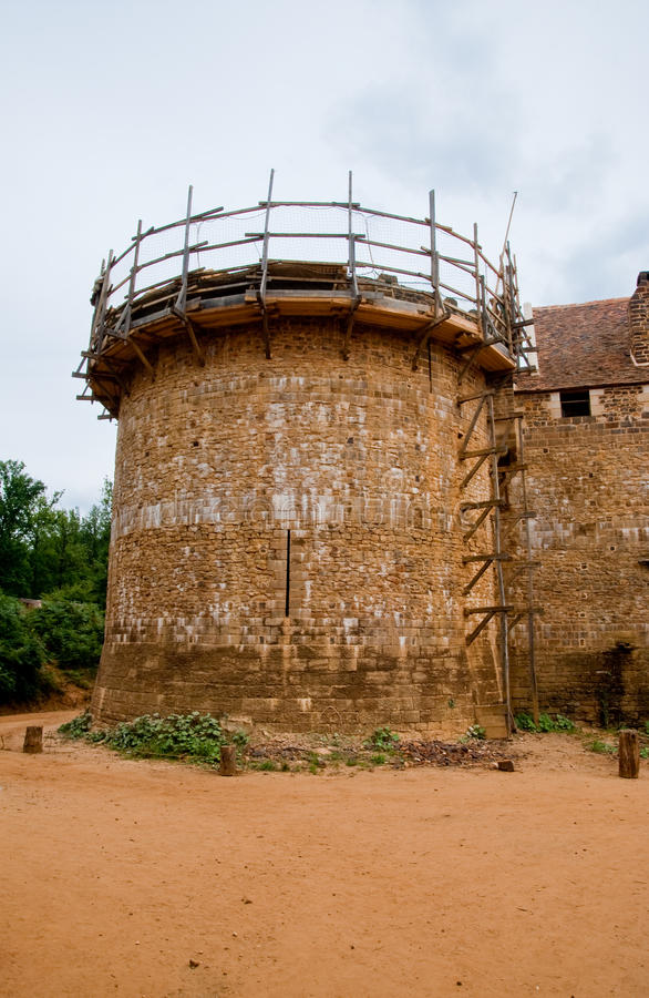κάστρο guedelon στοκ εικόνες