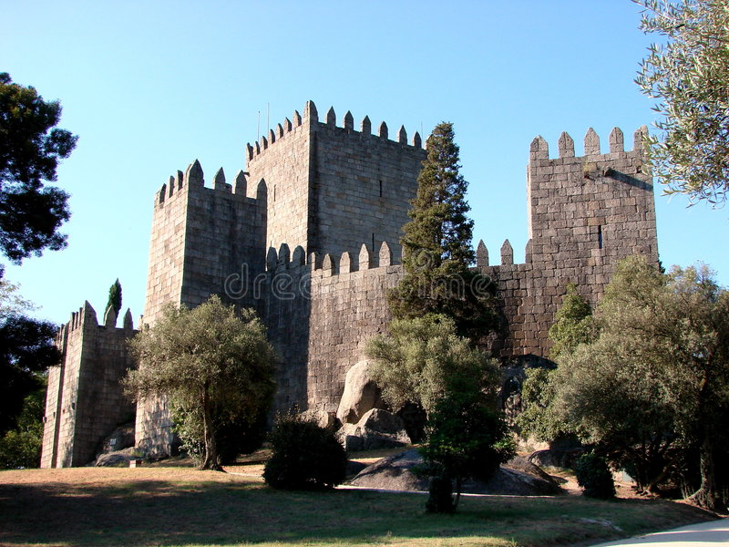 κάστρο Guimaraes Πορτογαλία στοκ εικόνες με δικαίωμα ελεύθερης χρήσης