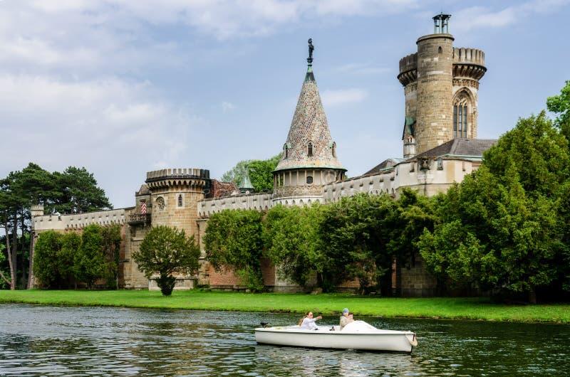Κάστρο Laxenburg κοντά στη Βιέννη στοκ εικόνες