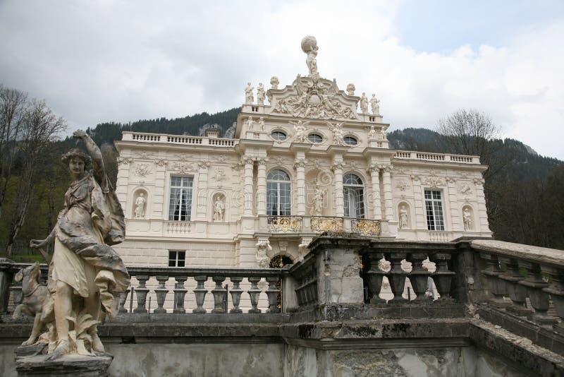 κάστρο linderhof στοκ εικόνες