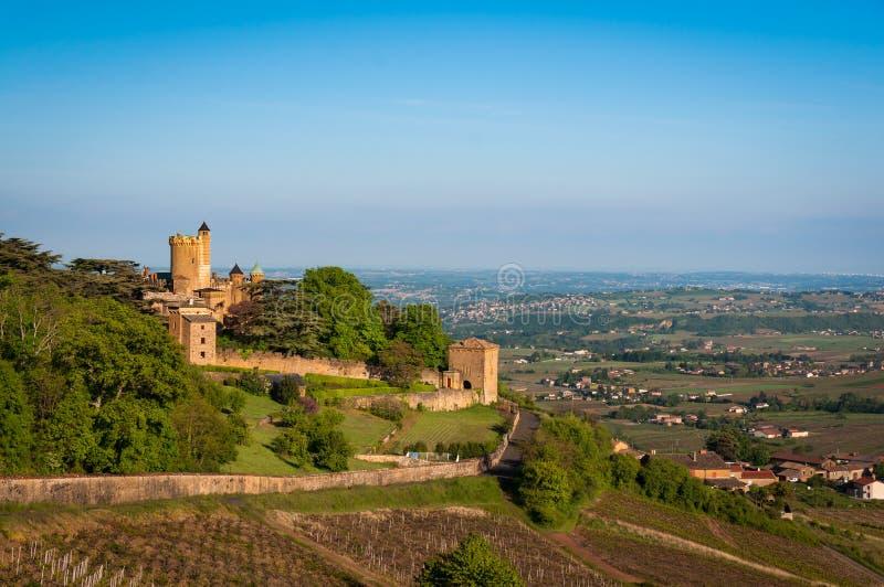 Κάστρο Montmelas, Beaujolais, Γαλλία στοκ φωτογραφία με δικαίωμα ελεύθερης χρήσης