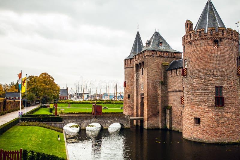 Κάστρο Muiden Muiderslot σε Muiden, Noord-Holland, οι Κάτω Χώρες στοκ εικόνες με δικαίωμα ελεύθερης χρήσης
