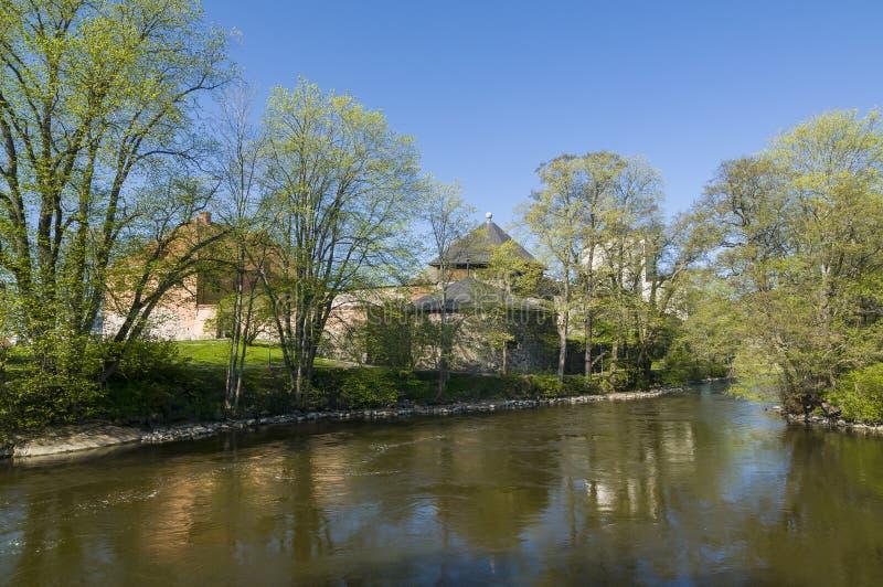 Κάστρο Nykoping και ποταμός Nykoping στοκ φωτογραφία με δικαίωμα ελεύθερης χρήσης