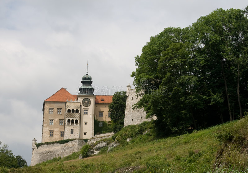 κάστρο ojcow στοκ φωτογραφία