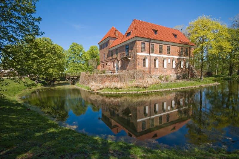 κάστρο oporow Πολωνία στοκ εικόνα