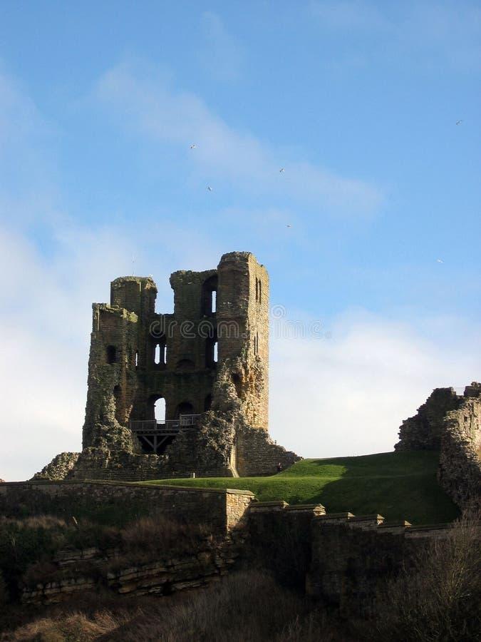 κάστρο scarborough στοκ φωτογραφίες